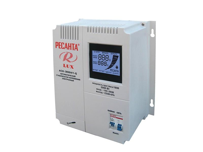Стабилизатор напряжения Ресанта ACH-3000/H1-Ц Lux