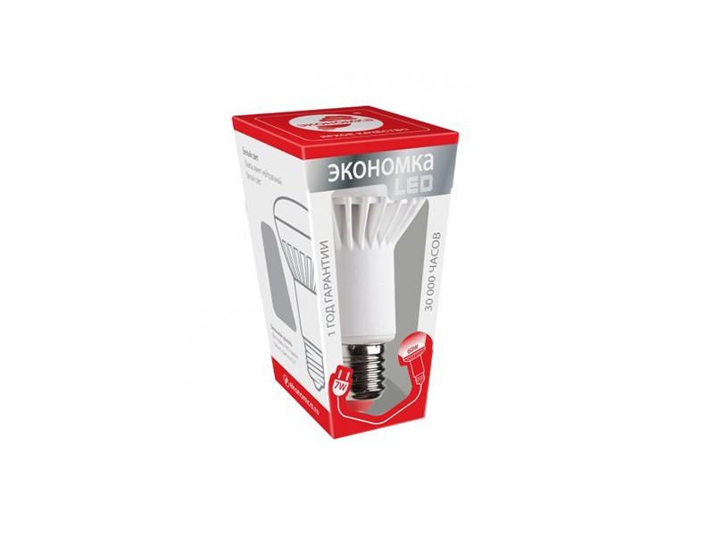 Лампа LED 7Вт E27 220B 3000K тёплый свет Экономка R63