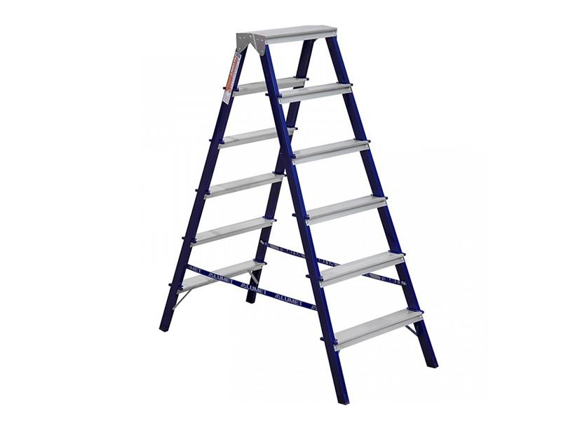 Лестница-стремянка двухсторонняя Алюмет 6-и ступенчатая